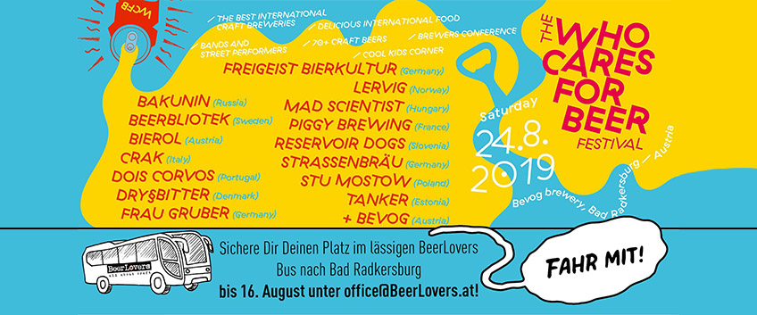 31.07.2019 - Fahr mit zum Bevog Who Cares For Beer Festival 2019